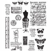 Stampers Anonymous/Tim Holtz - Cling Mount Stamp Set - Attic Treasures - CMS123